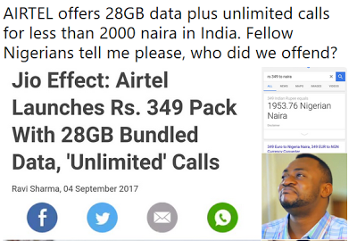 Airtel 28GB.png-Airtel Gives 28gb + Unlimited Calls To Indians But Only 3gb + 100 Mins Call To Nigerians