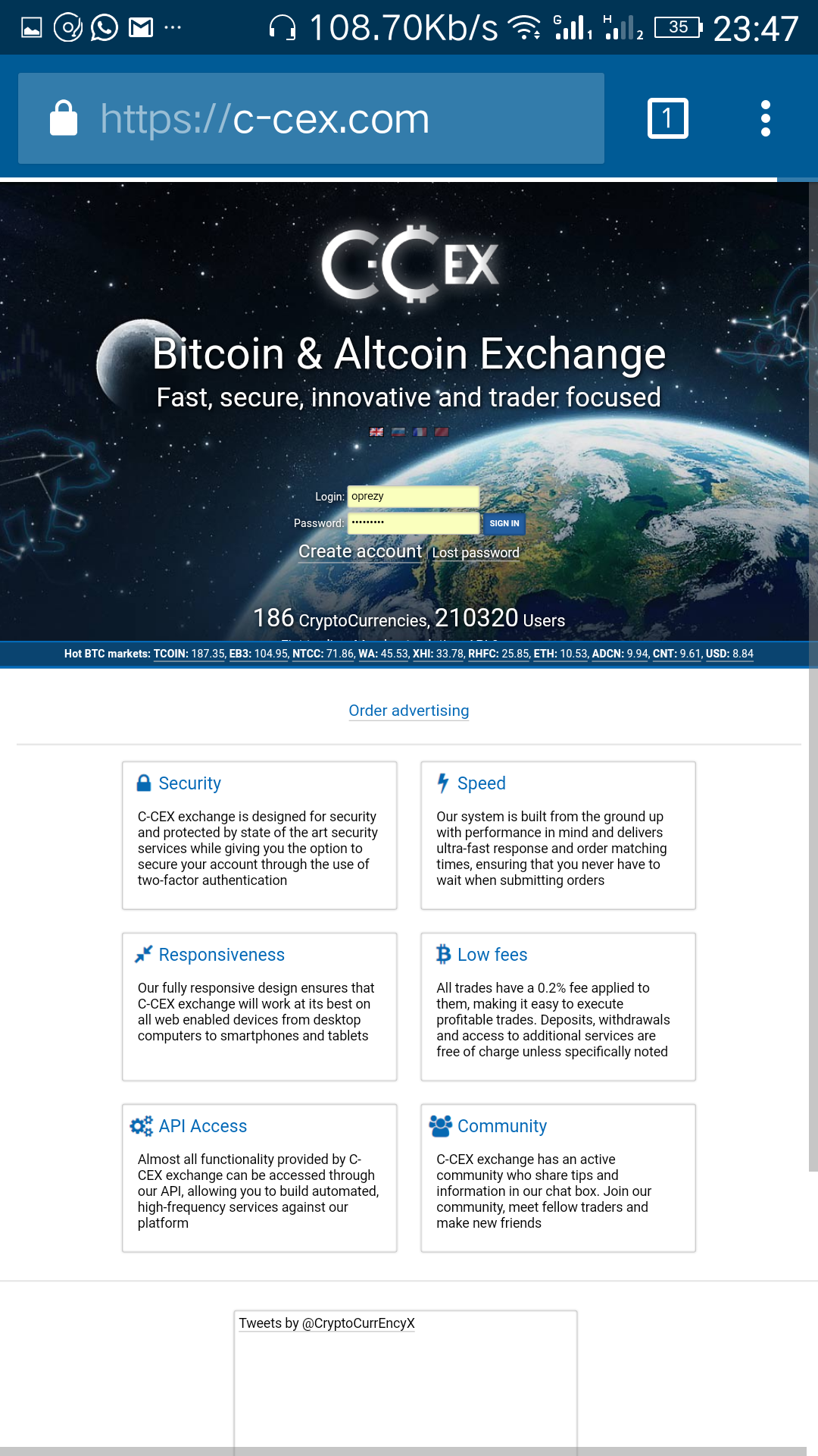 C-cex.png-Best 4 Exchange Sites For Bitcoin|altcoins Trading In Nigeria