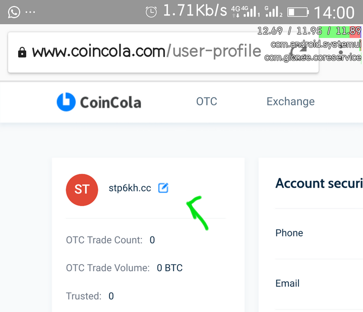 change name coincola .png-How To Customize Your Username On Coincola