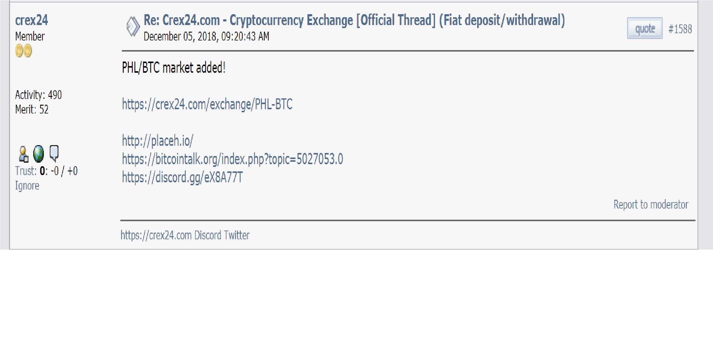 crex24.bitcointalk.jpg-(ann)(new Altcoin)(bounty/mining/coin Swap)-a Peer-to-peer Electronic Artifact Storage System