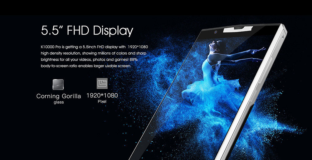 dd90b762697e40460cd6770a69ecc74b.jpg-Oukitel K10000 Pro With Fingerprint, 10000mah Battery And Octacore Processors