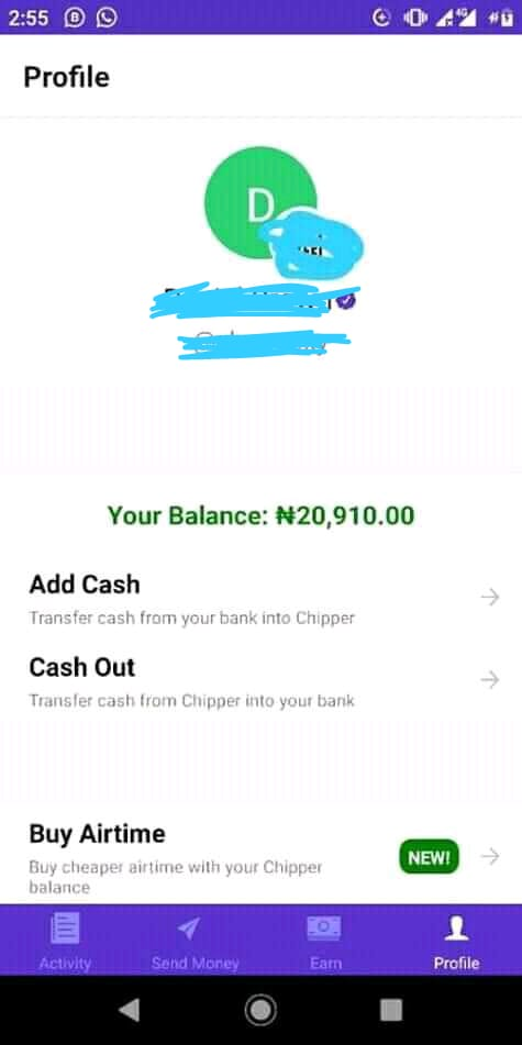 IMG-20191007-WA0014.jpg-Make Over N5000 On Chipper Cash Every Week And Get Paid To Your Local Bank Account