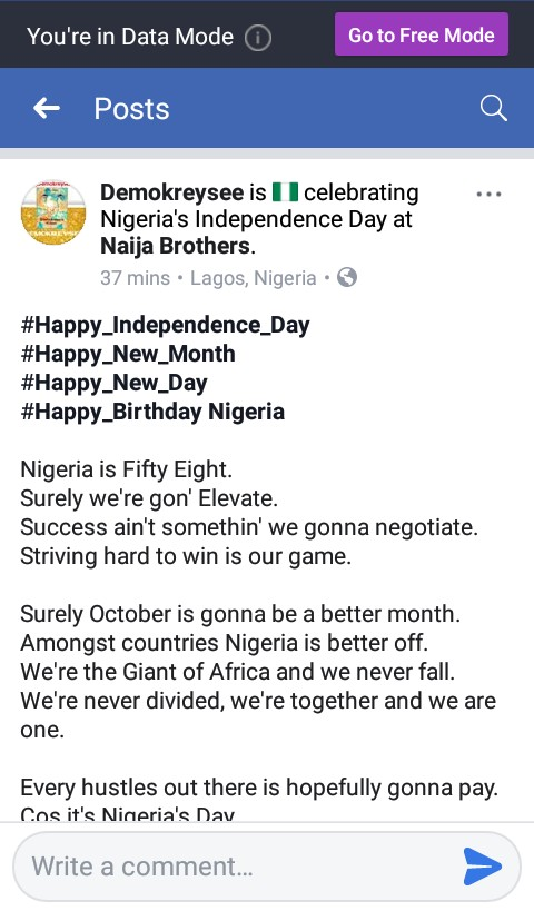 IMG_20181001_034057_783.JPG-Independence Day: Nigerian Teen Rapper's Touching Words Gives Hope To Nigerians