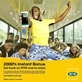 mtn 2000%.jpg-Get 2000% Awoof Bonus From Mtn, Validity Is 3 Months