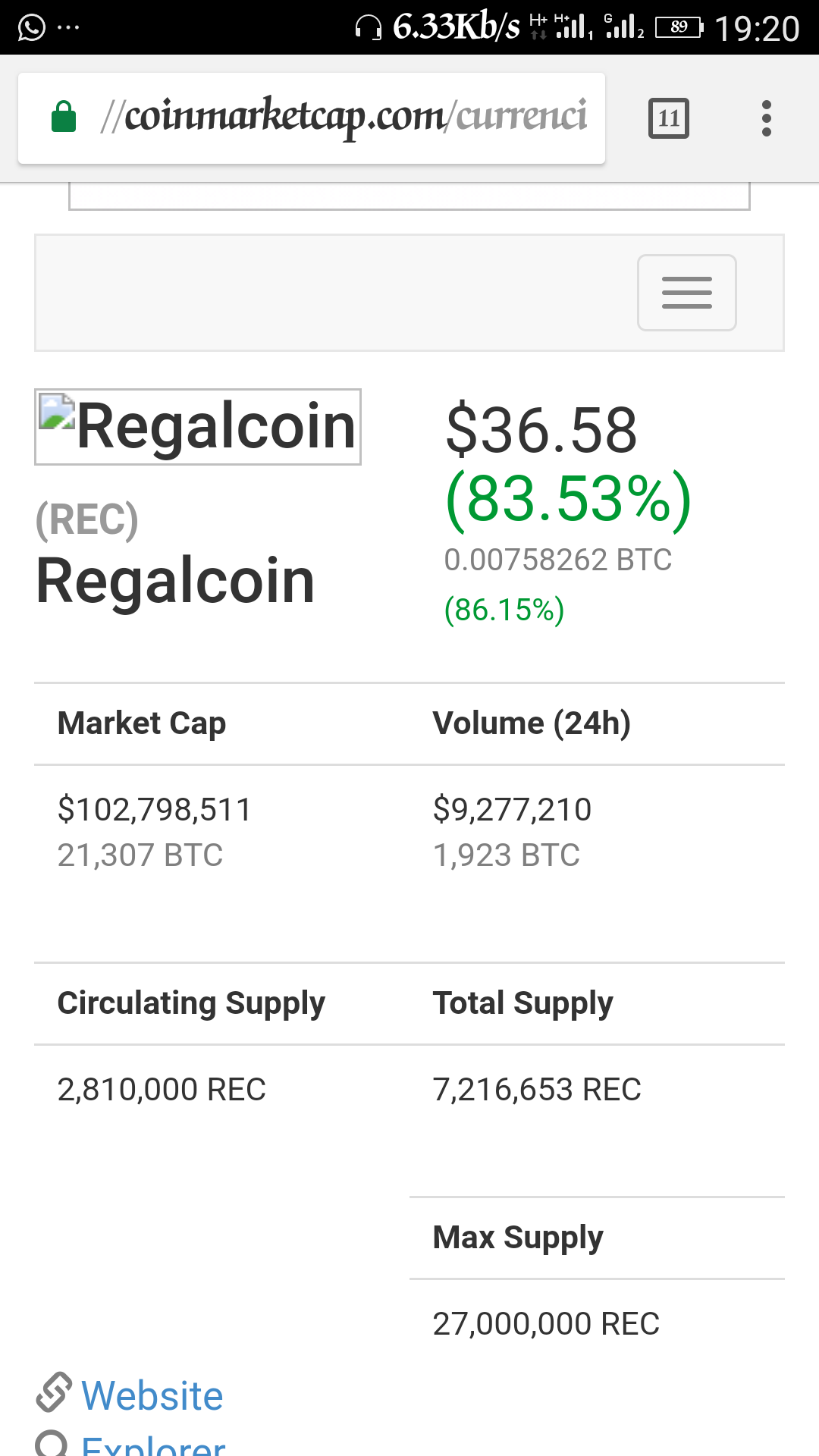 Screenshot_20171011-192037.png-Regalcoin Lending 2nd Day! Coin @ $36 With 86% Climb In 24 Hours