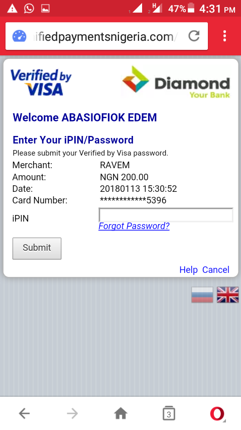 how to get firstbank visa card ipin