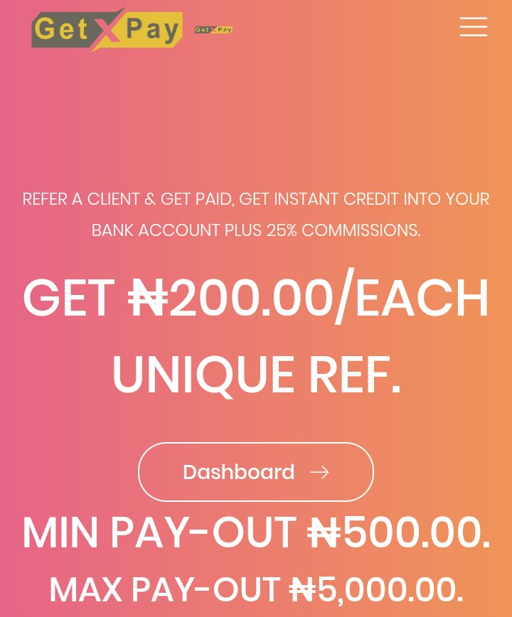 You Could Earn Upto 5,000naira Everyday Being A Getpay's Publisher