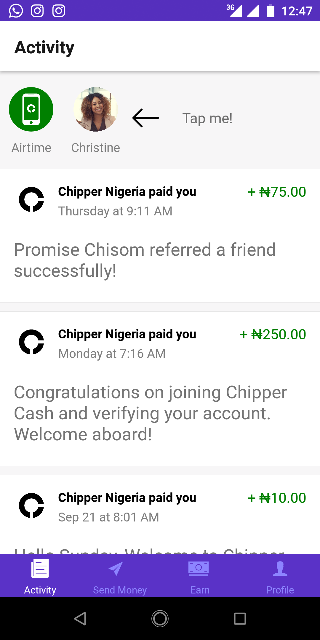 Screenshot_20190928-124717.png-Make Over N5000 On Chipper Cash Every Week And Get Paid To Your Local Bank Account