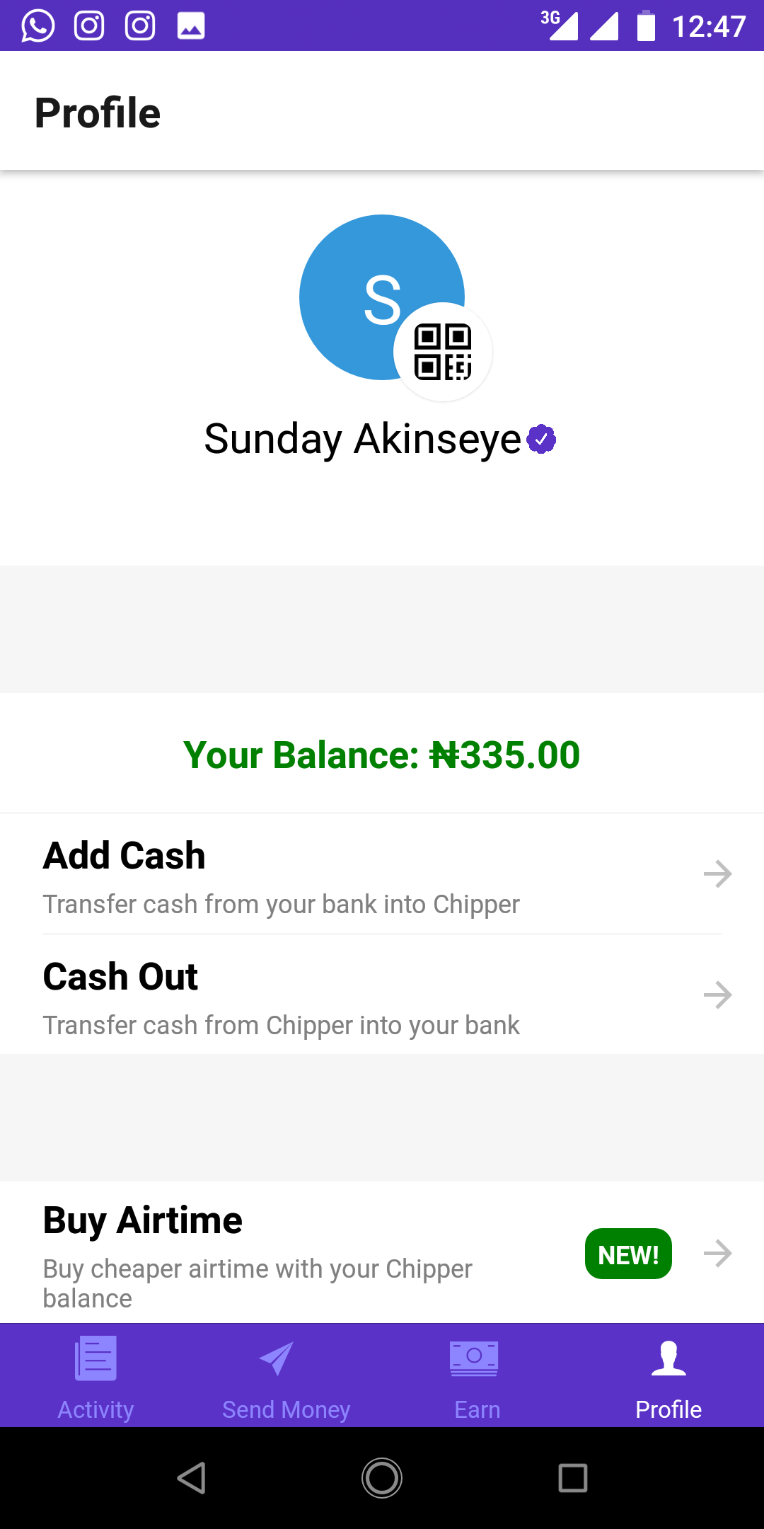 Screenshot_20190928-124730.png-Make Over N5000 On Chipper Cash Every Week And Get Paid To Your Local Bank Account